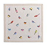 Maison d' Hermine Birdies On Wire 100% Cotton Set of 4 Napkins, 20 - inch by 20 - inch.