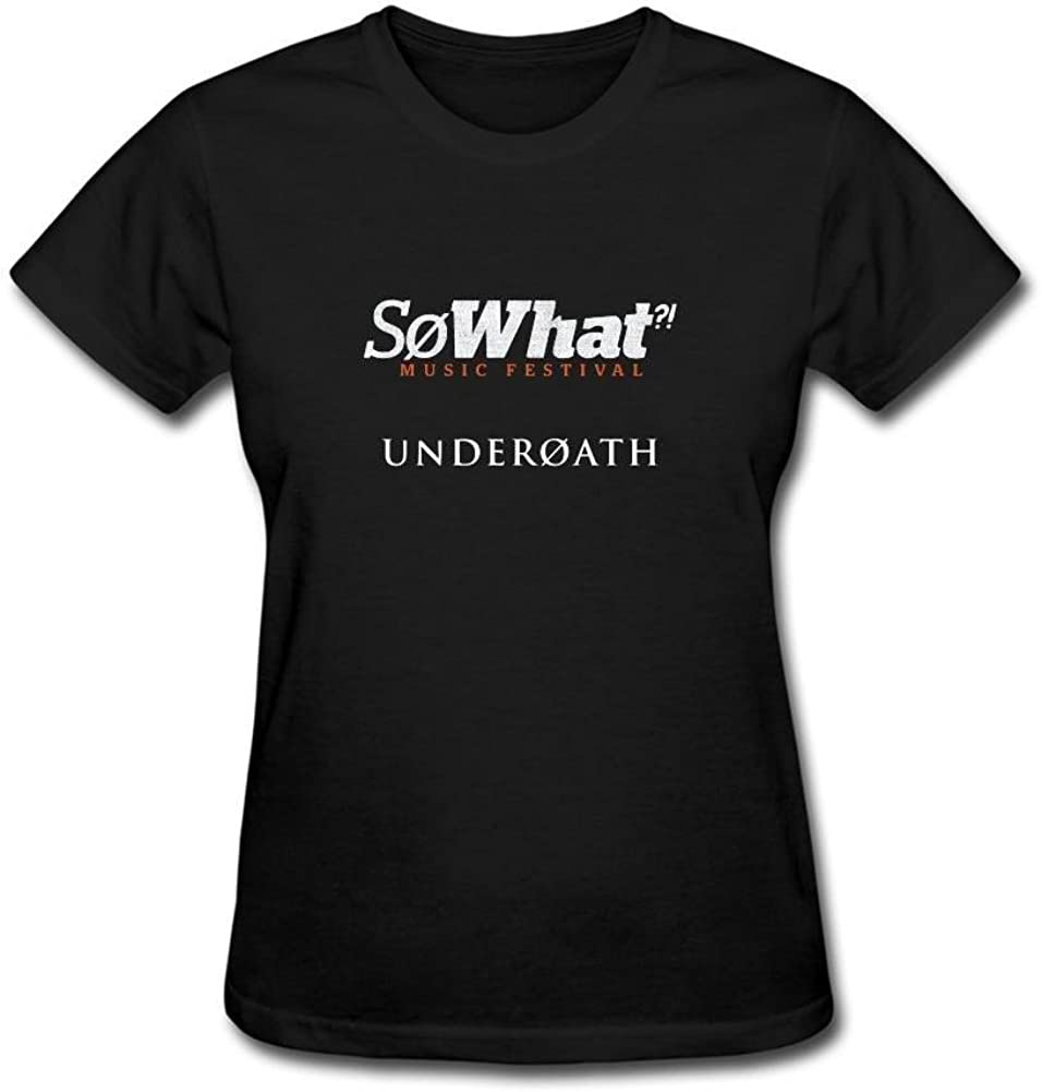 XIULUAN Women's SO What Underoath Logo T-Shirt Short Sleeve