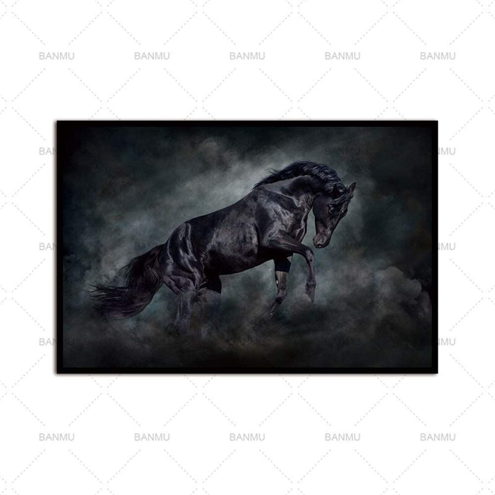 Animales llegadas Lienzo Painitng impresión del Caballo de Cuadros de la Pared for la Sala de Arte Decoración Fotos No Frame (Color : WP0201 3, Size (Inch) : 50cmX70cm)