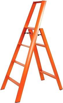 Jian Lin Escalera plegable de aluminio de los apoyabrazos dobles sola escalera lateral multifuncional escalera plegable escalera: Amazon.es: Bricolaje y herramientas