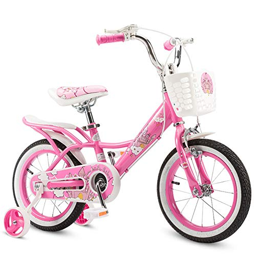 Sport Balance Bike- Princess Style Pink with Training Wheels for 12