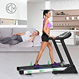 Bulges Folding Electric Treadmill, Exercise Fitness Equipment Walking Running Machine Gym Home - Black [US STOCK]