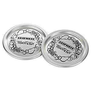 Leifheit Classic Wide Mouth Canning Lids, Silver, 12-Pack