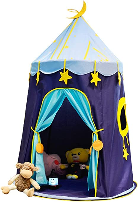 WYFDM Tienda De Campaña para Niños Teepee, Tienda De Campaña Portátil para Niños, Tienda De Campaña para Niños Estrella Azul Juego para Niños Juego De Castillo Castillo De La Princesa: Amazon.es: Deportes