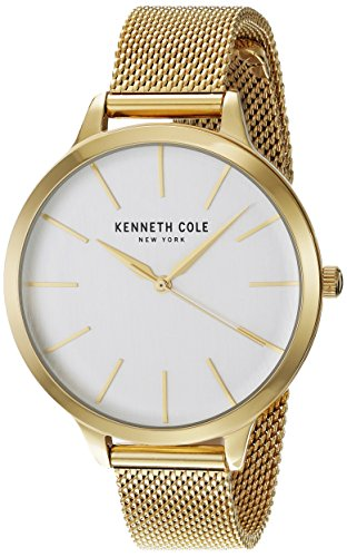 Kenneth Cole New York Women's 'Classic' Quartz Stainless Steel Dress Watch, Color:Gold-Toned (Model: KC15056011)