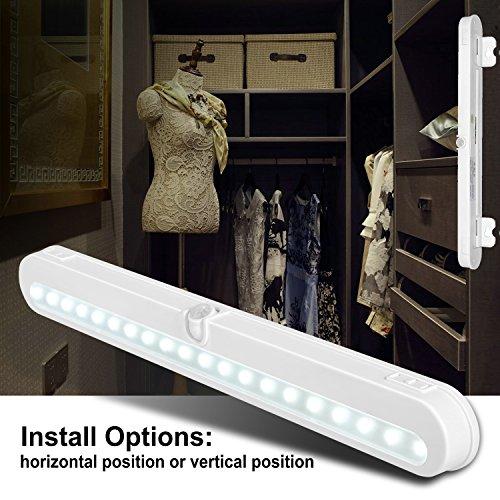 led closet lighting. T01LB LED Closet Light - BLS Super Bright 20 Under Cabinet Lighting Battery Powered / DC Input Led