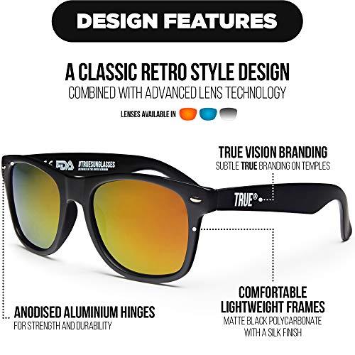 VISION De UV400 Gafas Polarizadas Sol Rojo Negras TRUE Reflejantes Estilo q1Edxq