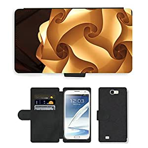 Hot Style Cell Phone Card Slot PU Leather Wallet Case // M00151399 Light Shapes Design Bright Pattern // Samsung Galaxy Note 2 II N7100