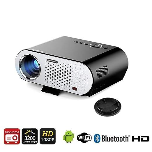 QLPP Mini proyector de la película con la versión androide 4,44 OS ...