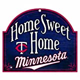 "MLB Minnesota Twins 10-by-11 Wood ""Home Sweet Home"" Sign"