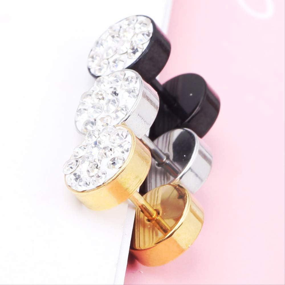 Diamantes de barro Diamantes Hombres Pendientes de botón de mujer Extensión de oreja falsa 8Mm
