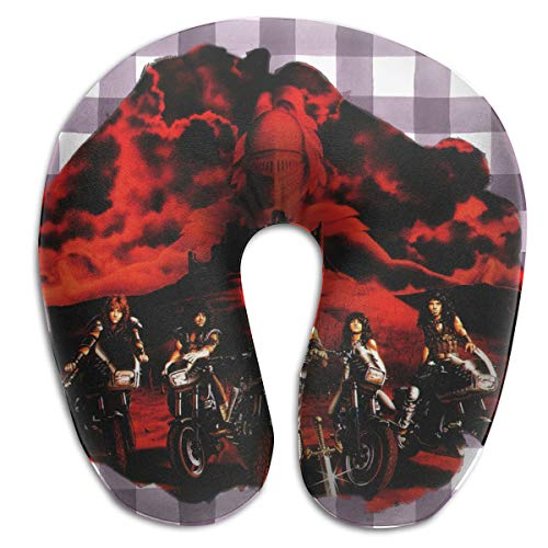 Yeayi Unisex Armored Saint Music Band U-Shaped Travel Pillow Convenience Neck Cervical Pillow for Travel Office Nap Gift