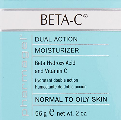 Pharmagel Beta-C Dual Action Moisturizer Normal to Oily Skin | Brightening and Smoothing Face Moisturizer | Pore Minimizer & Rejuvenation - 2 oz