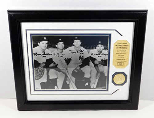 1961 Yankees Infield Signed Photo with Coin Highland Mint Framed DA025250 ()
