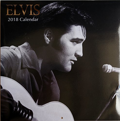 2018 Celebrity Musical and Popular Icons Theme Monthly Wall Calendar, 12 x 24 Inches (Elvis) Elvis Calendar