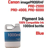 Blue Pigment Ink 1000ml 100% compatible bottle ink Canon...