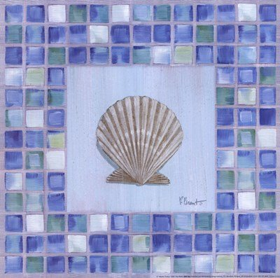 Mosaic Scallop by Paul Brent - 12x12 Inches - Art Print Poster