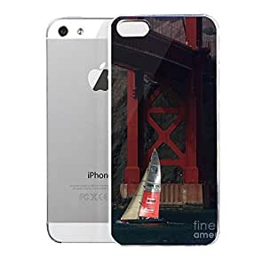 Case for iPhone 5/5s Architecture Oracle Racing Team Usa 76 Americas Cup Sailboat Under The Sf Golden Gate Bridge 7d19084