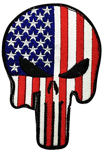 Patriotic American Punisher Velcro Patch product image