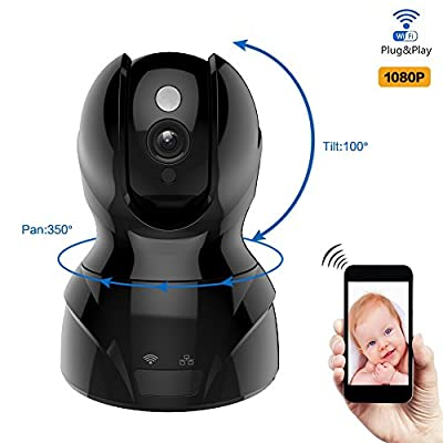 Matop Pro HD Cloud IP Camera,Pan & Tilt Control, Wi-Fi/Ethernet, Two-Way Audio, Night vision, Motion Detection, Surveillance Security Camera Free App