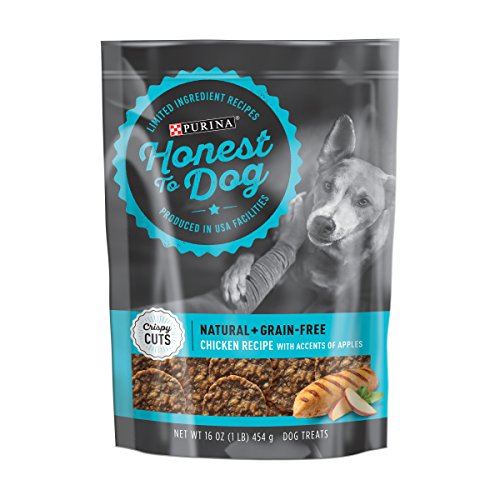 Purina Honest to Dog Tasty Crispy Cuts Chicken Recipe Accented Apples Dog Treats - 16 oz. ()