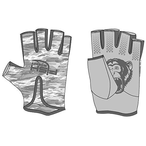 Fish monkey gloves stubby guide gloves x large grey for Fish monkey gloves