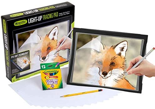 Crayola Light Up Tracing Pad with Eye-Soft Technology, Amazon for Kids 6, 7, 8, 9, 10