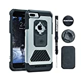 Rokform iPhone 8 & 7 PLUS Fuzion Pro Series Aluminum & Carbon Fiber Rugged Magnetic Phone case with twist lock & universal magnetic car mount (Natural)
