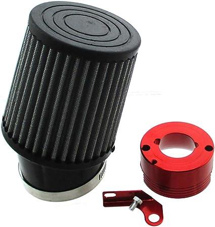 Amazon.com: TC-Motor filtro de aire rojo adaptador para ...