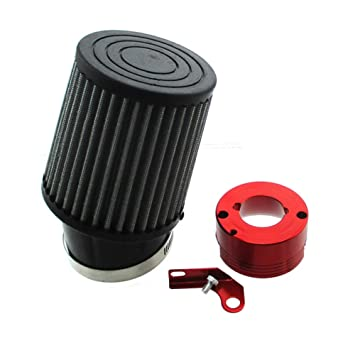 TC-Motor Air Filter Red Adapter For Honda 11Hp 13Hp GX340 GX390 Clone  Engine Go Kart Predator 301cc 420cc Golf Carts Mud Boats Lawnmowers  Minibikes