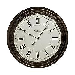 Westclox Classic Wall Clock, Brown