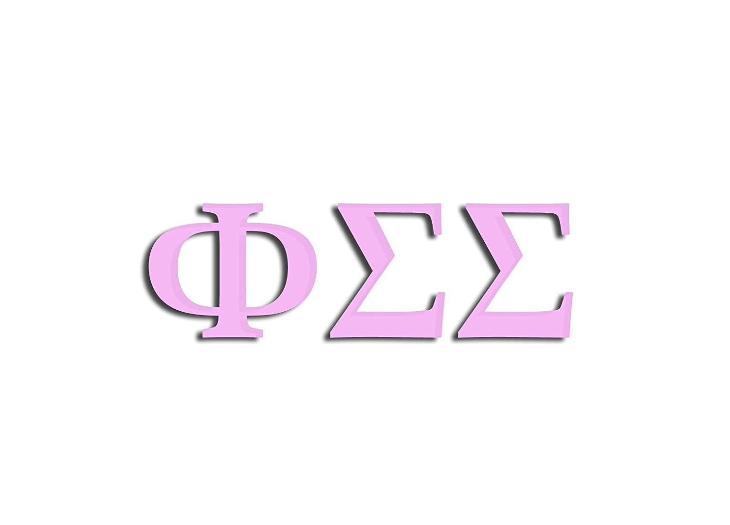 Officially Licensed Phi Sigma Sigma 8 x 3 Window Decal Matte Pink