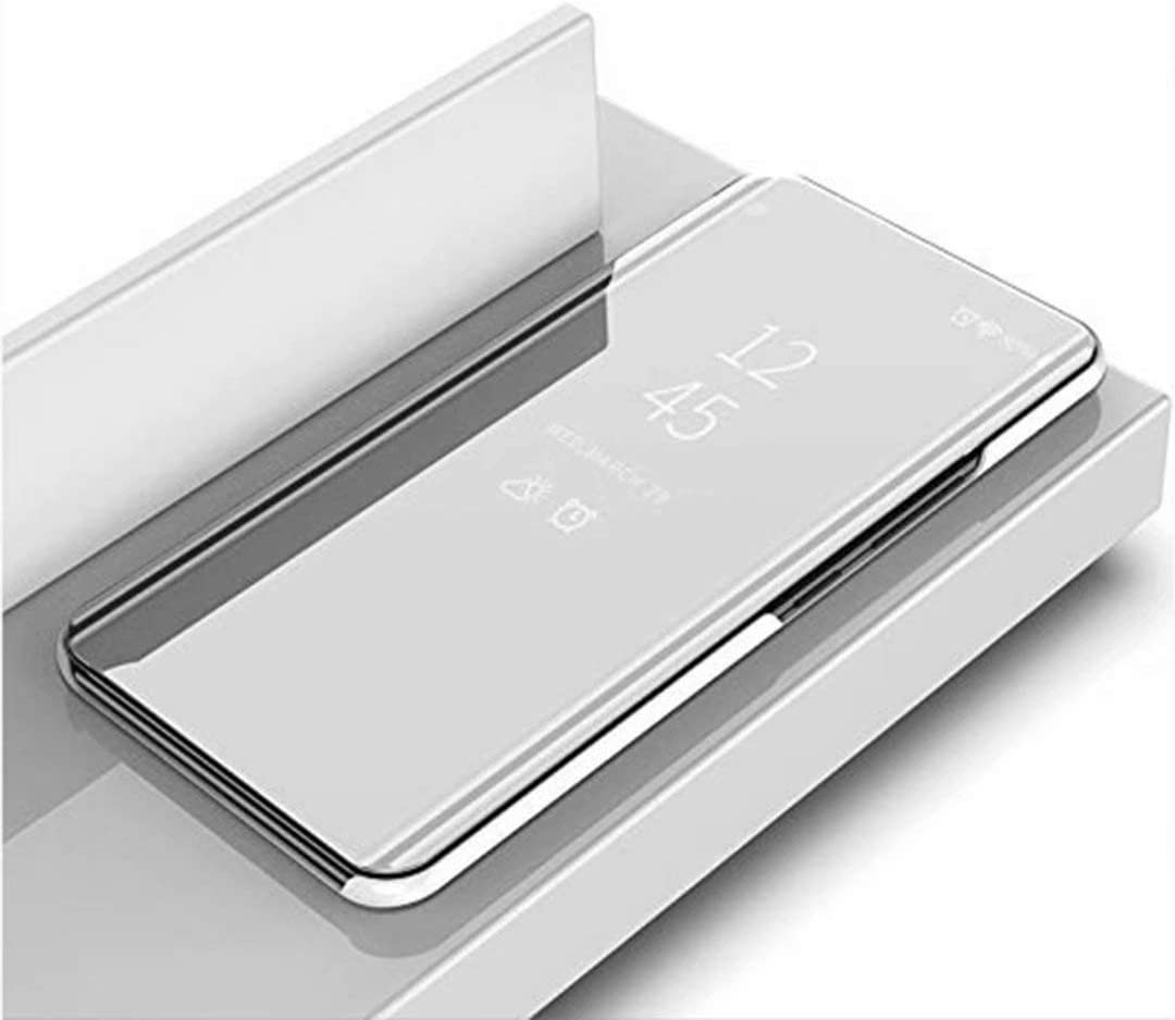 Plata HUUH Funda para Xiaomi Redmi Note 9S//Redmi Note 9 Pro//Redmi Note 9 Pro MAX,Caja del tel/éfono Espejo,Hecha PC+PU Material Compuesto,Soporte Plegable,Elegante y /único Carcasa
