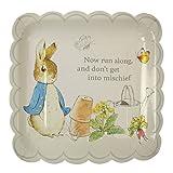 Meri Meri Paper Party Plate, Peter Rabbit Scallop Edge - Large