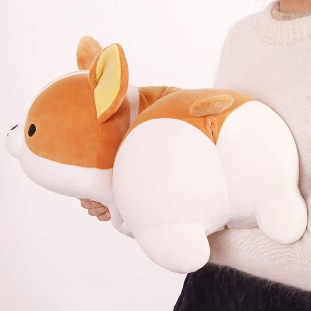 seemehappy Corgi Plush Pillow with Cute Butt Corgi Stuffed Doll 21inch
