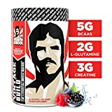 VINTAGE BUILD Post Workout BCAA, Creatine, L-Glutamine - The Essential 3-in-1 Muscle Building Recovery Powder for Men and Women (Fresh Berries) - Keto Friendly - 351 Grams - 30 Servings