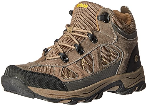 [Northside Caldera Junior Hiking Boot (Little Kid), Stone/Yellow, 5 M US Big Kid] (Boots Shoes For Kids)