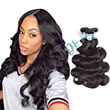 Brazilian Virgin Hair Bundles Body Wave 14 16 18Inch Lakihair Remy Human Hair Extensions Natural Color For Sale