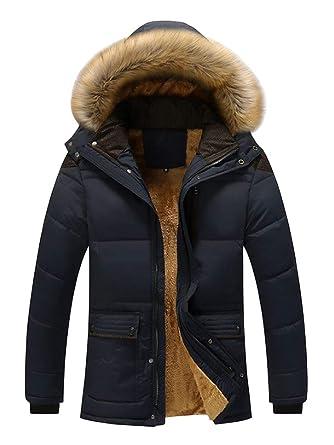 Manteau Avec Chaude Fourrure Capuche Soixante Doudoune Homme dqnd6W