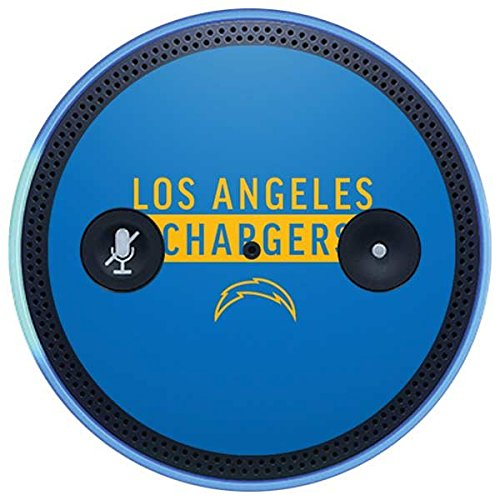 Skinit NFL Los Angeles Chargers Amazon Echo Plus Skin - Los Angeles Chargers Blue Performance Series Design - Ultra Thin, Lightweight Vinyl Decal Protection