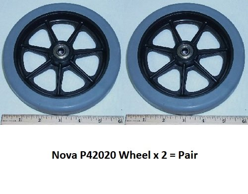 WHEELS (Pair) 6'' FOR NOVA 4208 & OLD 4202/4207 FLAT RADIUS (W/BEARINGS) - P42020 by Nova
