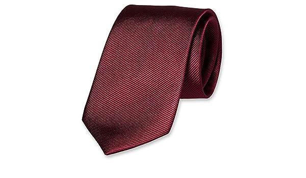 Accessoirespezialist.de Corbata de color burdeos de alta calidad ...