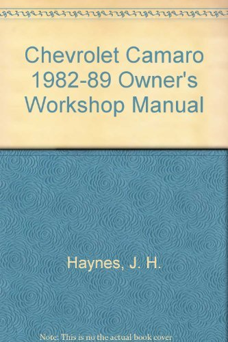 Chevrolet Camaro 1982-89 Owner's Workshop Manual (Haynes for sale  Delivered anywhere in Canada