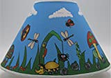 Bugs Garden Lamp Shade/Bug Childrens Nursery Decor with Lady Bugs, Dragonfly, Bees, Butterfly, Rolly Poley, Ants, Spiders, Grasshopper, Snail, Caterpillar and More