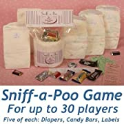 Baby Shower Sniff-A-Poo Candy Bar Game for 30