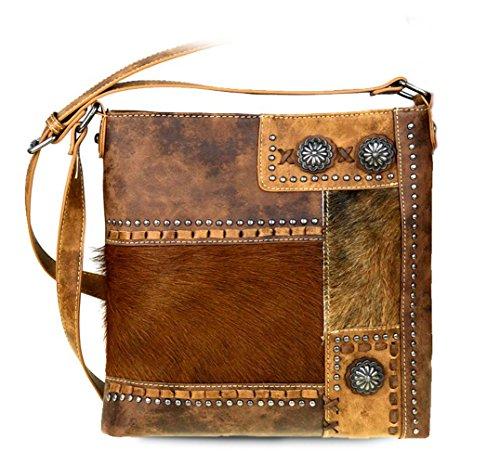 new-trinity-ranch-hair-on-leather-concealed-handgun-crossbody-bag-brown