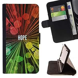 KingStore / Leather Etui en cuir / Samsung Galaxy S5 V SM-G900 / BIBLIA Esperanza
