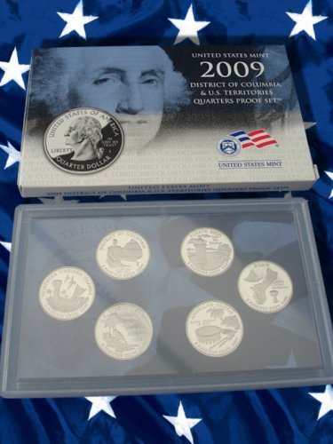 2009 U.S. Mint District of Columbia and U.S. Territories Quarter Six Coin Proof Set by Coin Shoppe