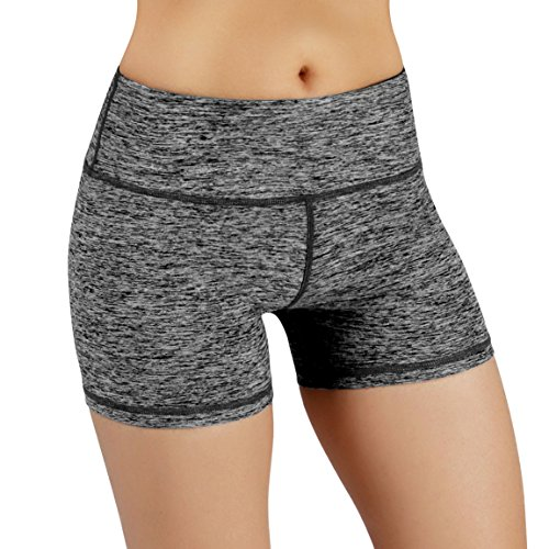 ODODOS Power Flex Yoga Short Tummy Control Workout Running Athletic Non See-Through Yoga Shorts with Hidden ()