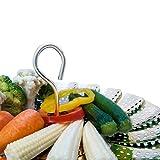 "NEW DESIGN - Vegetable Steamer Basket - 5.5-9.3"" - PRIME Bundle - Fits Instant Pot Pressure Cooker - 100% Stainless Steel - BONUS Accessories - Safety Tool + eBook + Julienne Peeler -Steam Food Insert"